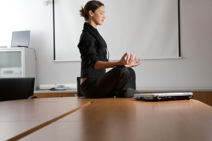 meditation in office. meditation at work makes you more productive in office